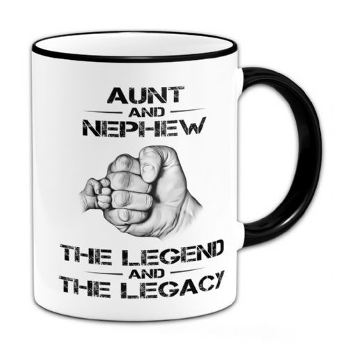 The Legend And The Legacy Novelty Gift Mug - Black Handle / Rim